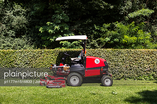 Lawn moving - p1177m1516833 by Philip Frowein