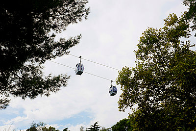 Cable car at Montjuic in Barcelona - p956m1044370 by Anna Quinn