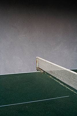 Dirty ping-pong table - p177m1016271 by Kirsten Nijhof