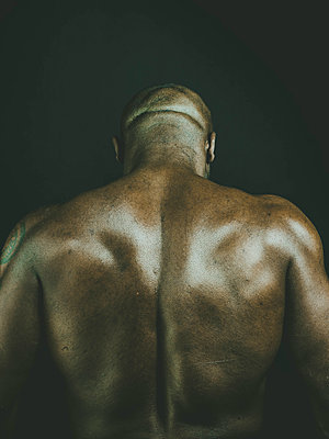 Back of a strong man - p445m1527808 by Marie Docher