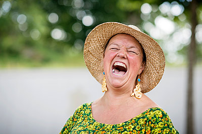 Laughing woman - p312m1113749f by Karl Forsberg