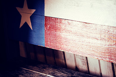 Texas State Flag painted on wall - p1166m1103439f by Jonathan Chapman