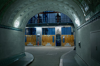 Germany, Hamburg, St. Pauli, Old elbe tunnel - p1578m2173233 by Marcus Hammerschmitt