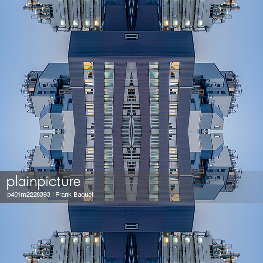 Abstract kaleidoscope of a chemical industrial plant - p401m2228393 by Frank Baquet