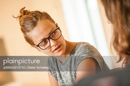 Austria, Students in class - p300m2213710 by Dieter Schewig