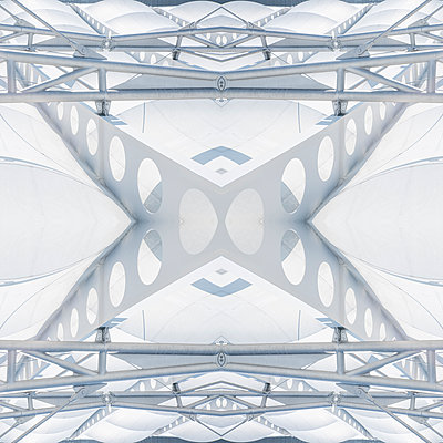 Abstract Kaleidoscope Salzburg Airport - p401m2211957 by Frank Baquet