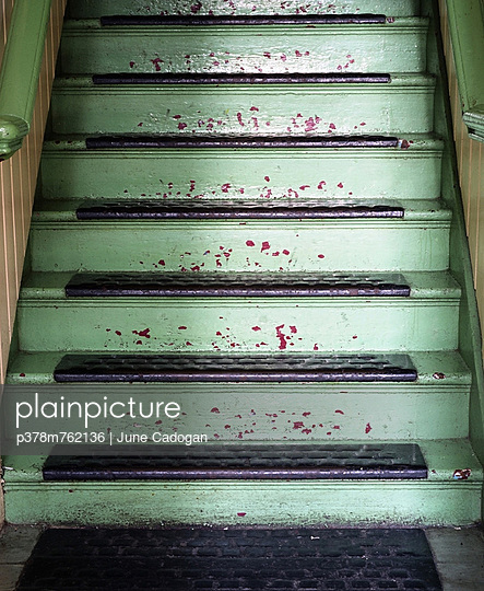 Green staircase - p378m762136 by June Cadogan