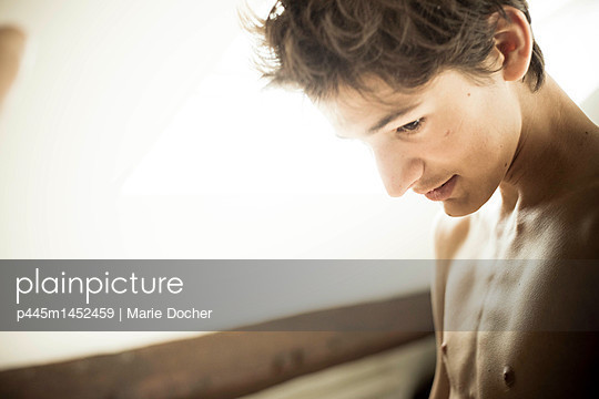 Portrait of a teenager - p445m1452459 by Marie Docher