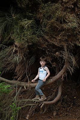 Kleiner Junge im Wald - p1308m2057144 von felice douglas