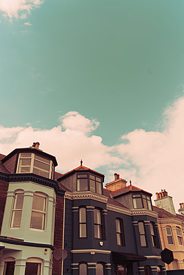 Row of houses, Newcastle, Northern Ireland - p1681m2283612 by Juan Alfonso Solis