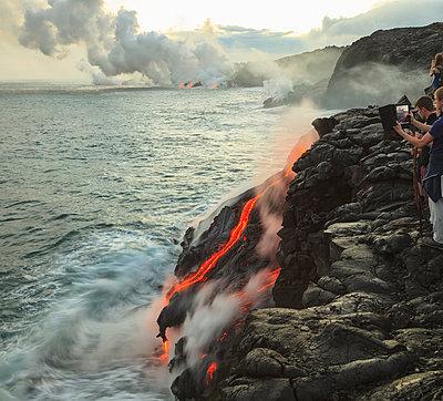 Kilauea Lava Flow, Kalapana, Big Island, Hawaii, USA - p429m802372 by Cultura