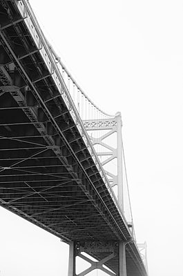 Benjamin Franklin Bridge - p1335m1171617 by Daniel Cullen