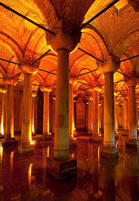 The byzantine Basilica Cistern, Istanbul, Turkey - p429m665589f by Henglein and Steets