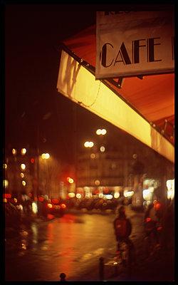 Cafe in Paris - p567m1212512 by Alexis Bastin