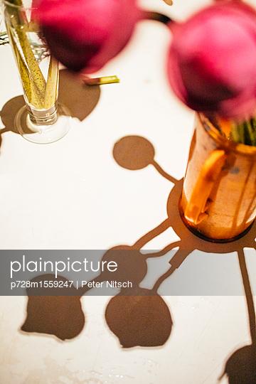 Thailändische Lotusblume in Vase - p728m1559247 von Peter Nitsch