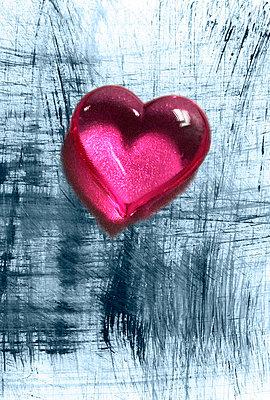 Pinkes Glasherz - p4500076 von Hanka Steidle