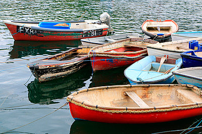 Boats, Mevagissey - p977m934717 by Sandrine Pic