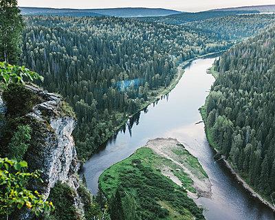 Delta in der russischen Taiga - p1085m854195 von David Carreno Hansen