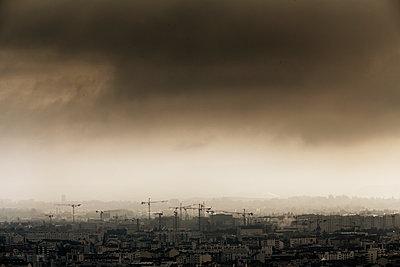 Large construction site in Lyon - p910m1467708 by Philippe Lesprit