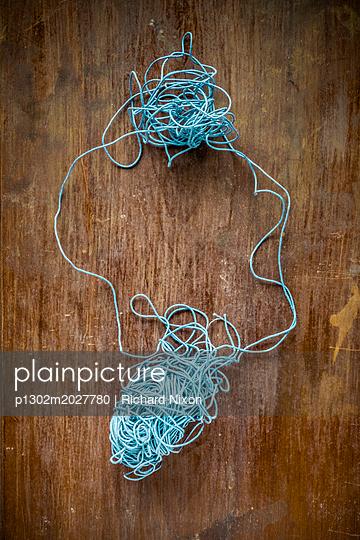 Knäuel blauer Bindfaden - p1302m2027780 von Richard Nixon