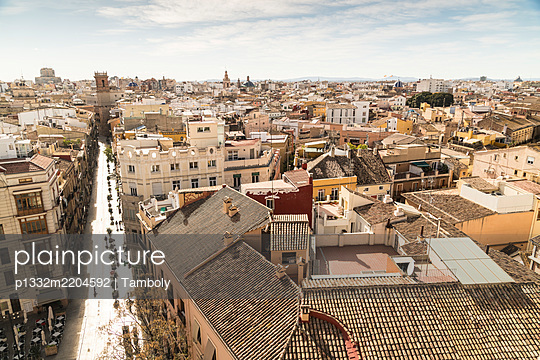 Spain, View of the city of Valencia  - p1332m2204592 by Tamboly