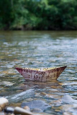 Paper boat - p451m932619 by Anja Weber-Decker