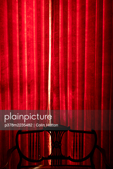Red curtain - p378m2235482 by Colin Hutton
