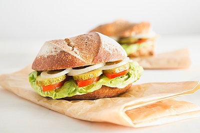 Bread roll - p1149m1123127 by Yvonne Röder