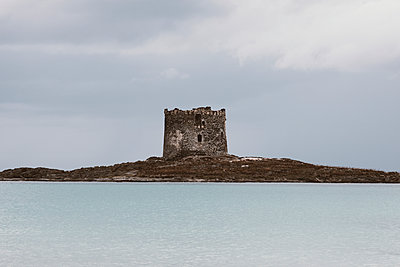 Torre della Pelosa tower in Sardinia, Italy - p1423m2215061 by JUAN MOYANO