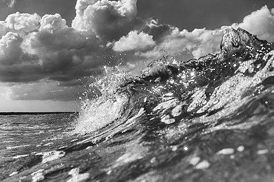 Germany, Mecklenburg-Western Pomerania, Prerow, waves and - p300m873704 by Stefanie Baum