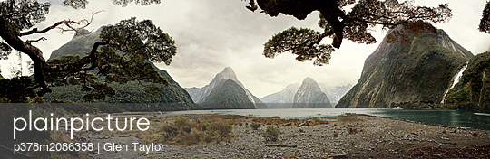 Behind the Mountains - p378m2086358 by Glen Taylor