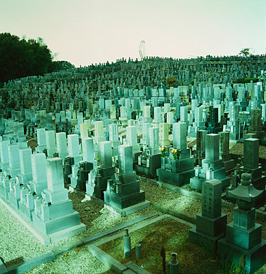 A cemetery, Osaka, Japan - p3018734f by Brian Caissie