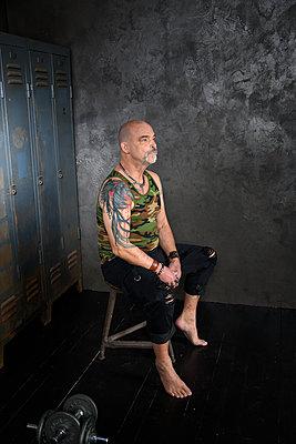 Tattooed man - p427m2272331 by Ralf Mohr