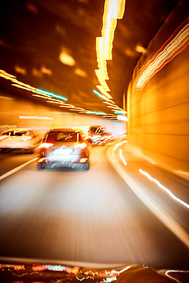 Cars in a tunnel, blurred view - p851m2205829 by Lohfink