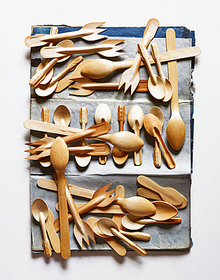 Wooden spoons - p1397m2076487 by David Prince