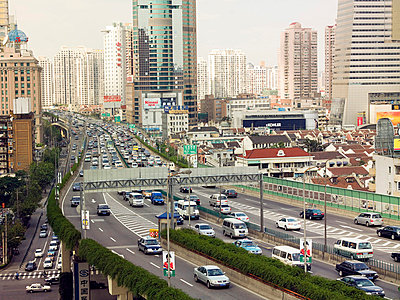 Elevated highway in shanghai - p9249158f by Image Source