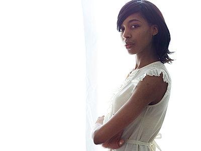 Self-confident young woman - p5840855 by ballyscanlon