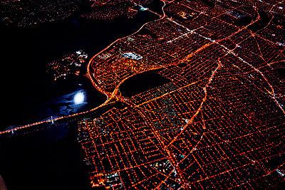 Miami at night - p584m960549 by ballyscanlon