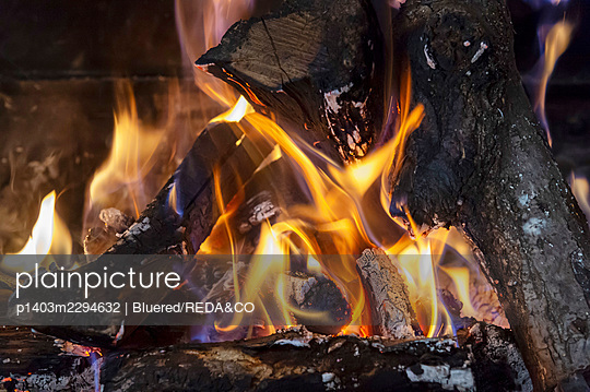 Fire. sotto il monte. Italy - p1403m2294632 by Bluered/REDA&CO