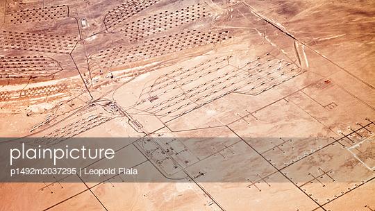 Wüste Militärgelände Luftaufnahme - p1492m2037295 von Leopold Fiala