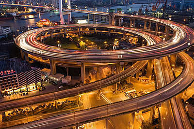 Nanpu bridge shanghai - p9246158f by Image Source