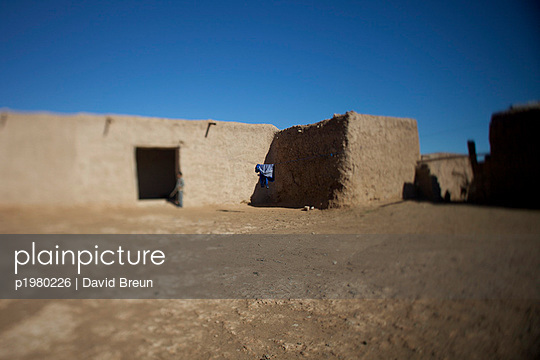 Clay house in the High Atlas - p1980226 by David Breun