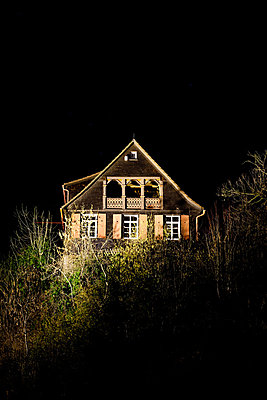 House at night - p248m880995 by BY