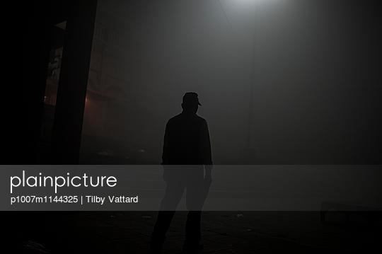 Man at night - p1007m1144325 by Tilby Vattard