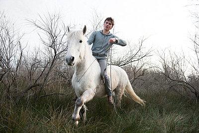 Horseback ride outdoors - p1041m1042367 by Franckaparis