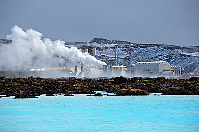 Power plant in arctic landscape - p555m1415727 by Pete Saloutos