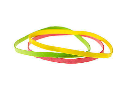 Three coloured wristbands - p5840308 by ballyscanlon