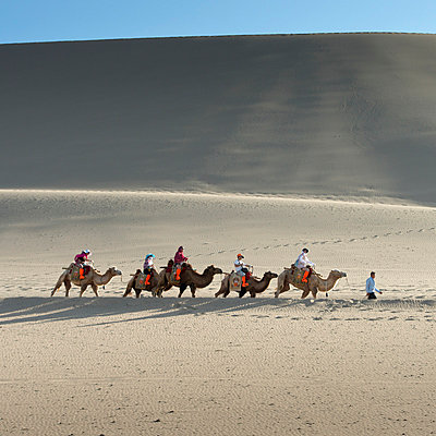 Singing Sand Dunes in the Gobi Desert; Jiuquan, Gansu, China   - p442m824150 by Keith Levit