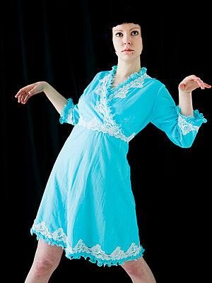 Blue dress - p4130150 by Tuomas Marttila