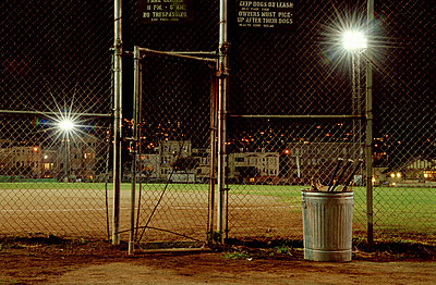 A sports field illuminated at night - p3017825f by Ivo Gabrowitsch